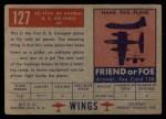 1952 Topps Wings #127   XC-123A Jet Avitruc Back Thumbnail