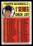 1969 Topps #57 CLR  -  Denny McLain Checklist 1 Front Thumbnail
