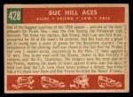 1959 Topps #428   -  Ron Kline / Bob Friend / Vern Law / Roy Face Buc Hill Aces Back Thumbnail