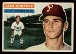 1956 Topps #174 GRY Glen Gorbous  Front Thumbnail