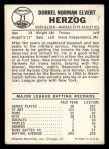 1960 Leaf #71  Whitey Herzog  Back Thumbnail