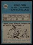 1964 Philadelphia #156  Bernie Casey  Back Thumbnail