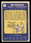 1969 Topps #97  Jim Johnson  Back Thumbnail