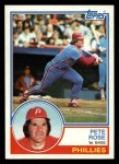 1983 Topps #100  Pete Rose  Front Thumbnail