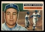 1956 Topps #150 GRY Duke Snider  Front Thumbnail