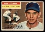 1956 Topps #112  Dee Fondy  Front Thumbnail