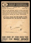 1959 Topps #34  Dale Dodrill  Back Thumbnail