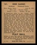1940 Play Ball #161  Debs Gams  Back Thumbnail