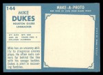 1961 Topps #144  Mike Dukes  Back Thumbnail