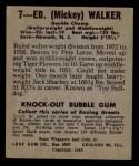 1948 Leaf #7  Mickey Walker  Back Thumbnail