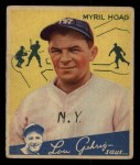 1934 Goudey #95  Myril Hoag  Front Thumbnail