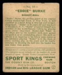 1933 Goudey Sport Kings #33  Eddie Burke   Back Thumbnail