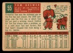 1959 Topps #55  Tom Brewer  Back Thumbnail