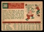 1959 Topps #390  Orlando Cepeda  Back Thumbnail