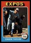 1975 Topps #58  Chuck Taylor  Front Thumbnail