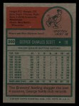 1975 Topps #360  George Scott  Back Thumbnail