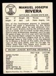 1960 Leaf #55  Jim Rivera  Back Thumbnail