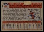 1957 Topps #87  Tom Gorman  Back Thumbnail