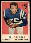 1959 Topps #163  L.G. Dupre  Front Thumbnail