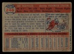 1957 Topps #246  Jose Valdivielso  Back Thumbnail