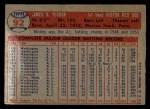 1957 Topps #92  Mickey Vernon  Back Thumbnail