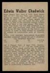 1958 Parkhurst #12  Ed Chadwick  Back Thumbnail