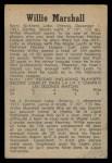1958 Parkhurst #19  Willie Marshall  Back Thumbnail