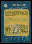 1969 O-Pee-Chee #36  Rod Seiling  Back Thumbnail