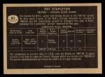 1967 Topps #61  Pat Stapleton  Back Thumbnail