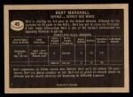 1967 Topps #46  Bert Marshall  Back Thumbnail