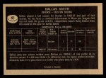 1967 Topps #41  Dallas Smith  Back Thumbnail