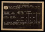 1967 Topps #19  Bob Pulford  Back Thumbnail