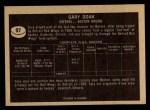 1967 Topps #97  Gary Doak  Back Thumbnail