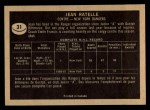 1967 Topps #31  Jean Ratelle  Back Thumbnail