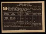 1967 Topps #101  Norm Ullman  Back Thumbnail