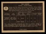 1967 Topps #94  Ted Green  Back Thumbnail