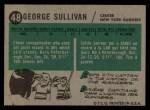 1958 Topps #48  George Sullivan  Back Thumbnail
