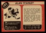 1968 O-Pee-Chee #183  Allan Stanley  Back Thumbnail