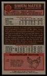 1976 Topps #103  Swen Nater  Back Thumbnail