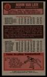 1976 Topps #108  Norm Van Lier  Back Thumbnail