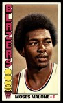 1976 Topps #101  Moses Malone  Front Thumbnail