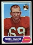 1968 Topps #96  Sherrill Headrick  Front Thumbnail