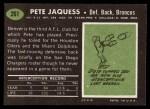 1969 Topps #261  Pete Jaquess  Back Thumbnail