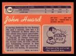 1970 Topps #146  John Huard  Back Thumbnail