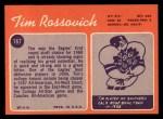 1970 Topps #167  Tim Rossovich  Back Thumbnail