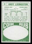 1968 Topps #48  Andy Livingston  Back Thumbnail