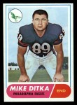 1968 Topps #162  Mike Ditka  Front Thumbnail
