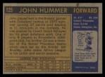 1971 Topps #125  John Hummer  Back Thumbnail