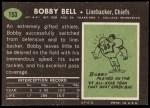 1969 Topps #153  Bobby Bell  Back Thumbnail
