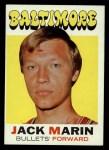 1971 Topps #112  Jack Marin  Front Thumbnail